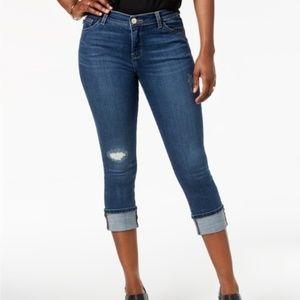 Cuffed Capri Jeans